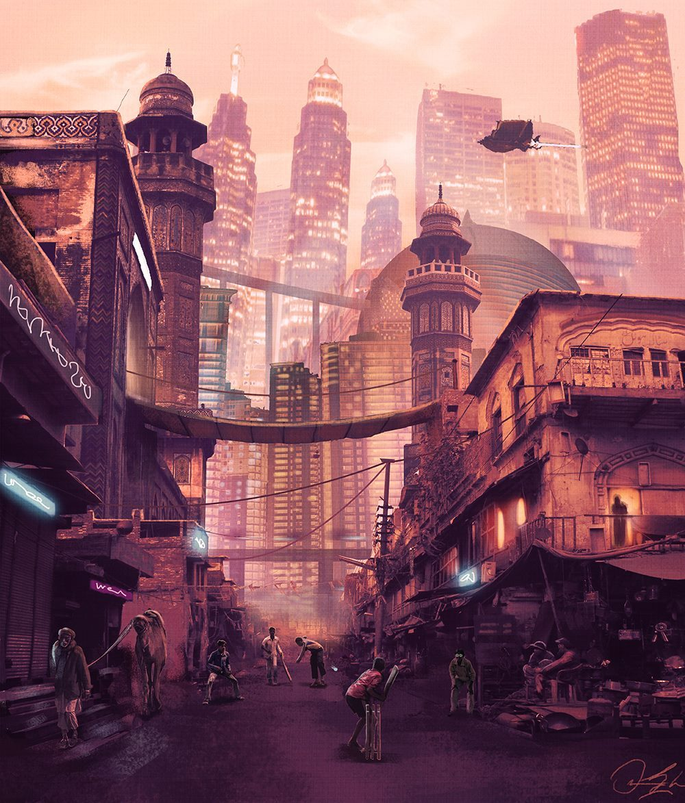 The Pakistani Science Fiction art of Omar Gilani